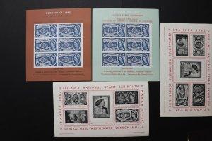 STAMPEX 1962 London GB UK EUROSTAMP Philatelic Souvenir Sheet set stamp reprint