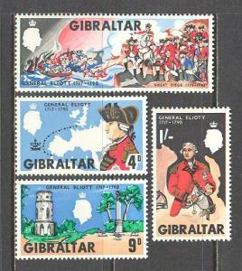 Gibraltar MNH 205-8 General Elliot