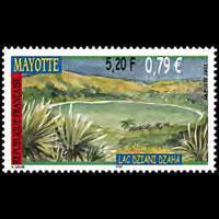 MAYOTTE 2001 - Scott# 156 Dzaha Lake Set of 1 NH