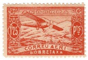 (I.B) Andorra Postal : Air Mail 1.25P