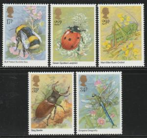 GB 1985 Insects MNH SG#1277-1281 S1074