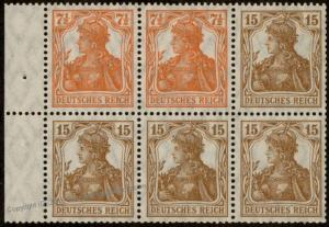Germany Germania HB12aaA Se-Tenant Zusammendruck MH Booklet Pane Heftchenb 82110