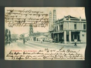 1905 Singapore Picture Postcard Cover to Austria South Bridge Road