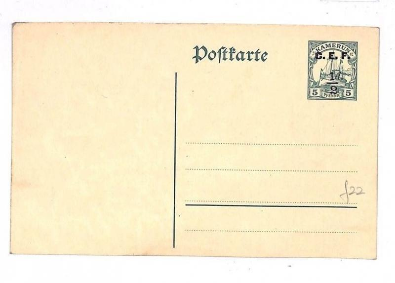 GG104 Cameroon Africa Postcard Blank Unused Postal Stat {samwells-covers}PTS