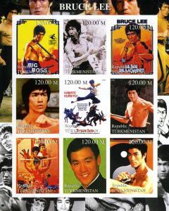 Turkmenistan 2000 Bruce Lee Sheet Imperforated mnh.vf
