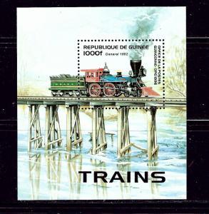 Guinea 1360 MNH 1996 Locomotive on Trestle S/S