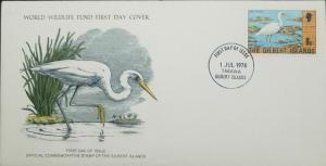 L) 1978 GILBERT ISLANDS, NATURE, ANIMLS, BRID, REEF EGRET, 6C,  WORLD WILDLIFE