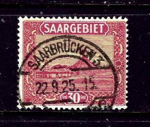 Saar 108 Used 1922 issue