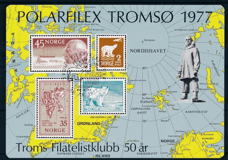 [59850] Norway 1977 Polar Philex Tromso Polar bear Exposition sheet MNH
