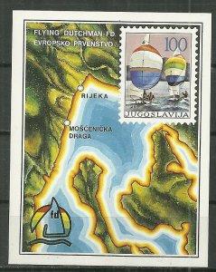1987 Yugoslavia 1786   European Sailing Championship Royal Dutchman Class S/S