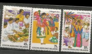 COCOS ISLANDS, 108-110, MNH, CULTURE FESTIVITIES