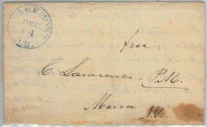 72338  - UNITED STATES USA - PREPHILATELIC Cover: CLAREMONT, NH 1844 - Free