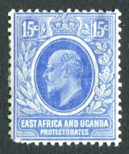 East Africa & Uganda/KUT 1907 KEVII. 15c bright blue. Mint. LH. SG39.