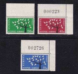 Cyprus   #219-221  MNH  1963  Europa