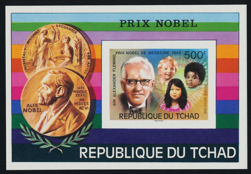Chad C199 Deluxe Sheet MNH Nobel Prize Winners, Sir Alexander Fleming