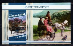SIERRA LEONE 2018 HORSE TRANSPORTATION  SOUVENIR SHEET  MINT NEVER HINGED
