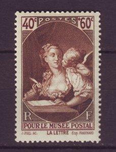 J24616 JLstamps 1939 france set of 1 mnh #b92 the letter