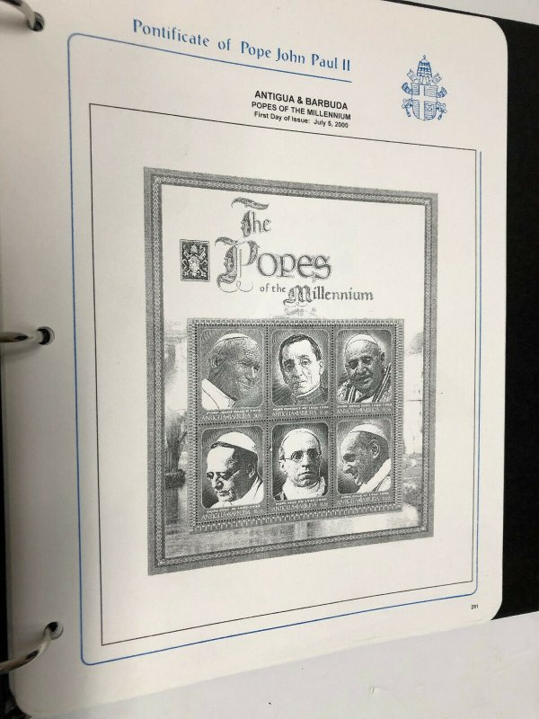 Pope John Paul II Black Albums, Pages & Dust Jackets - set of 4 - No Stamps (II)