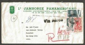 1965 Brazil Scouts Pan-American Jamboree corner ad registered to US