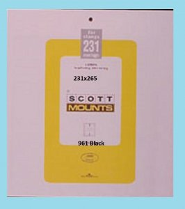 Scott Mounts Black, 231mm Strip 265 mm (pkg 5) 00961B*
