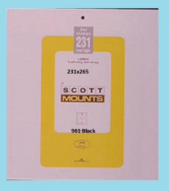 Scott Mounts Black, 231mm Strip 265 mm (pkg 5) 00961B*