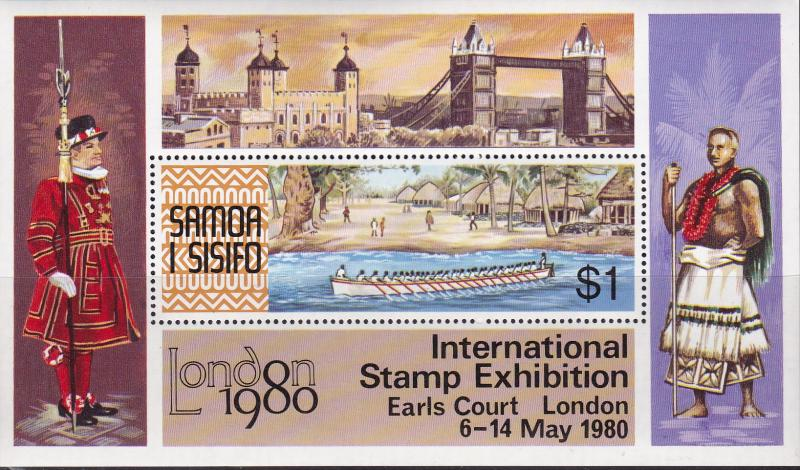 Samoa 1980 London '80 Stamp Expo Sheet  VF/NH