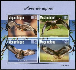 MOZAMBIQUE 2019  BIRDS OF PREY  SHEET MINT NEVER HINGED