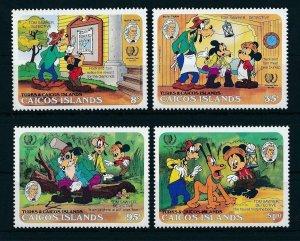 [22178] Caicos Islands 1985 Disney Characters, 150th Birthday Mark Twain MNH