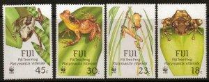 FIJI SG778/81 1988 TREE FROG MNH