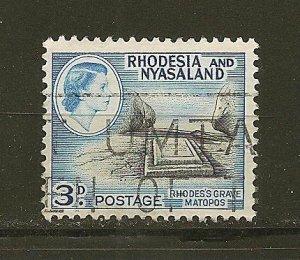 Rhodesia and Nyasaland 162 Rhodes Grave Used