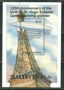 Maldives MNH S/S Airship Zeppelin