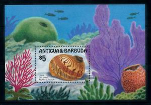 [99623] Antigua & Barbuda 1986 Marine Life Sea shell Souvenir Sheet MNH