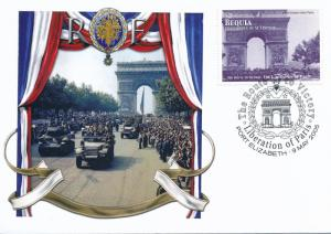 [96866] Bequia 2005 WWII Liberation Paris Special Cachet Cover