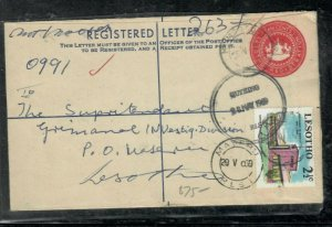 LESOTHO COVER (P0506B) 1969 10C RLE+  2 1/2C  QUITHING TO MASERU
