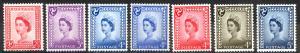 Isle of Man Sc# 1-7 MH 1958-1969 Queen Elizabeth II