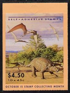 Booklet - Australia 1993 Prehistoric Animals $4.50 self-a...