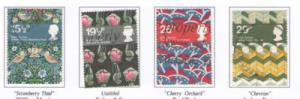 Great Britain Sc 996-9 1982 Textiles stamps used
