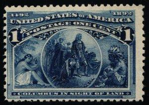 Scott #230 F/VF - 1c Deep Blue - Columbian Expo Issue - MNH - 1893