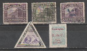 Nicaragua Used and Mint OGH lot 2
