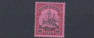 GERMAN EAST AFRICA  1901  S G 22  40P  BLACK &  CARMINE      MNH