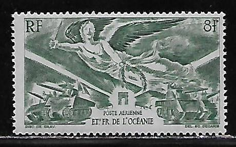 French Polynesia C10 1946 WWII Victory single MNH
