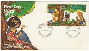 New Zealand 1977 FDC Stamps Scott B98-100 Children Health Animals Birds Butterfl