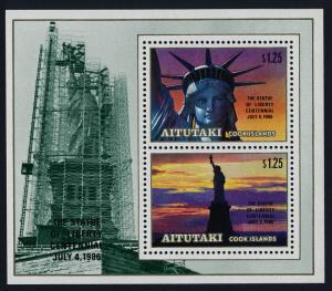 Aitutaki 396 MNH Statue of Liberty