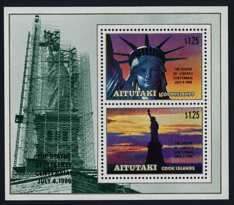 Aitutaki 396 MNH Statue of Liberty