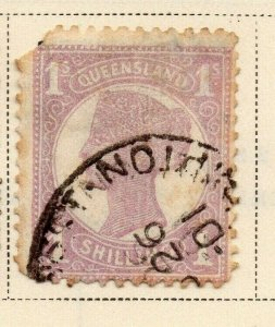 Queensland 1897-1900 Early Issue Fine Used 1S. 326853