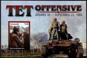 HERRICKSTAMP NEW ISSUES GRENADA Vietnam War Tet Offensive S/S