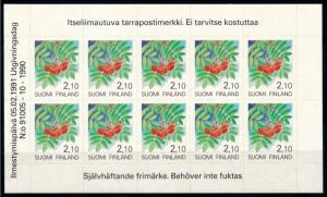 [69862] Finland 1991 Flora Plant Rowan Self Adh. Foil Sheet MNH