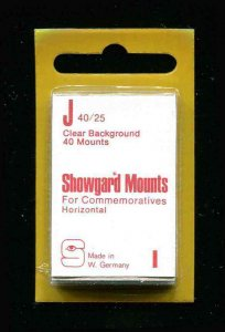 Showgard Clear Stamp Mounts J 40/25 PreCut  (40 count)