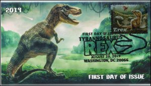 19-191, 2019, Tyrannosaurus Rex, Pictorial Postmark, First Day Cover, T-rex