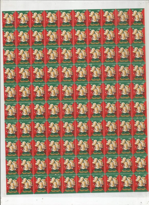 1950 CHRISTMAS SEALS, FULL SHEET